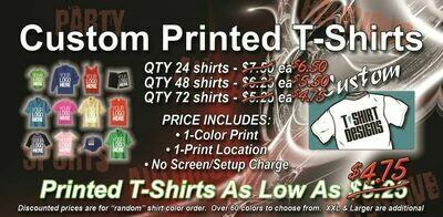 4 Dozen T-Shirt OVERSTOCK Promo Special, 48 - $5.50 each