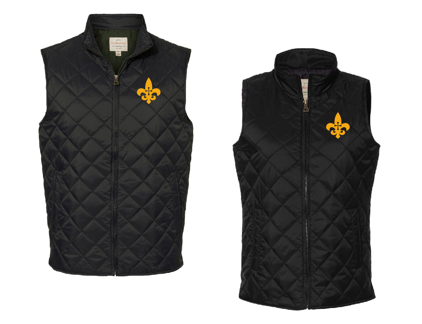 St. James Saints Diamond Quilted Vest Men's / Women's