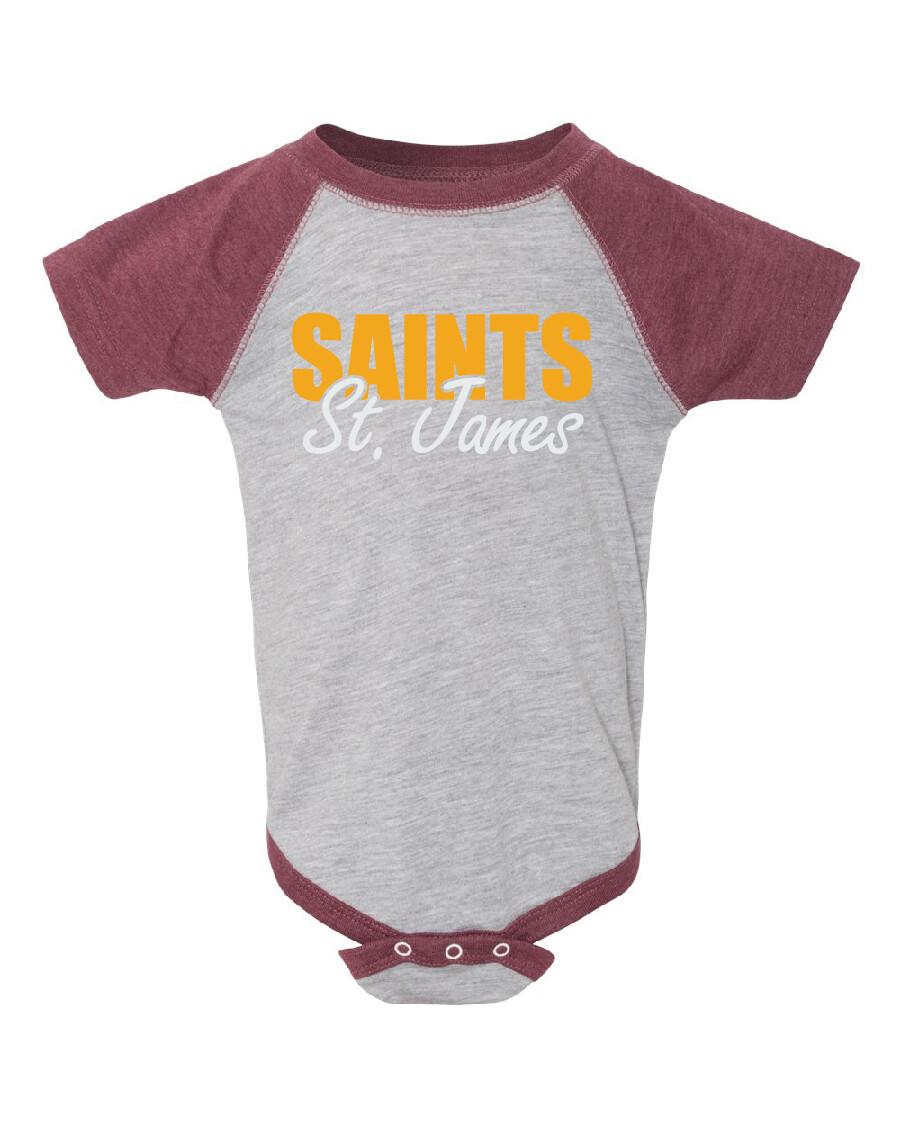 St. James Saints Fine Jersey Infant Creeper Bodysuit
