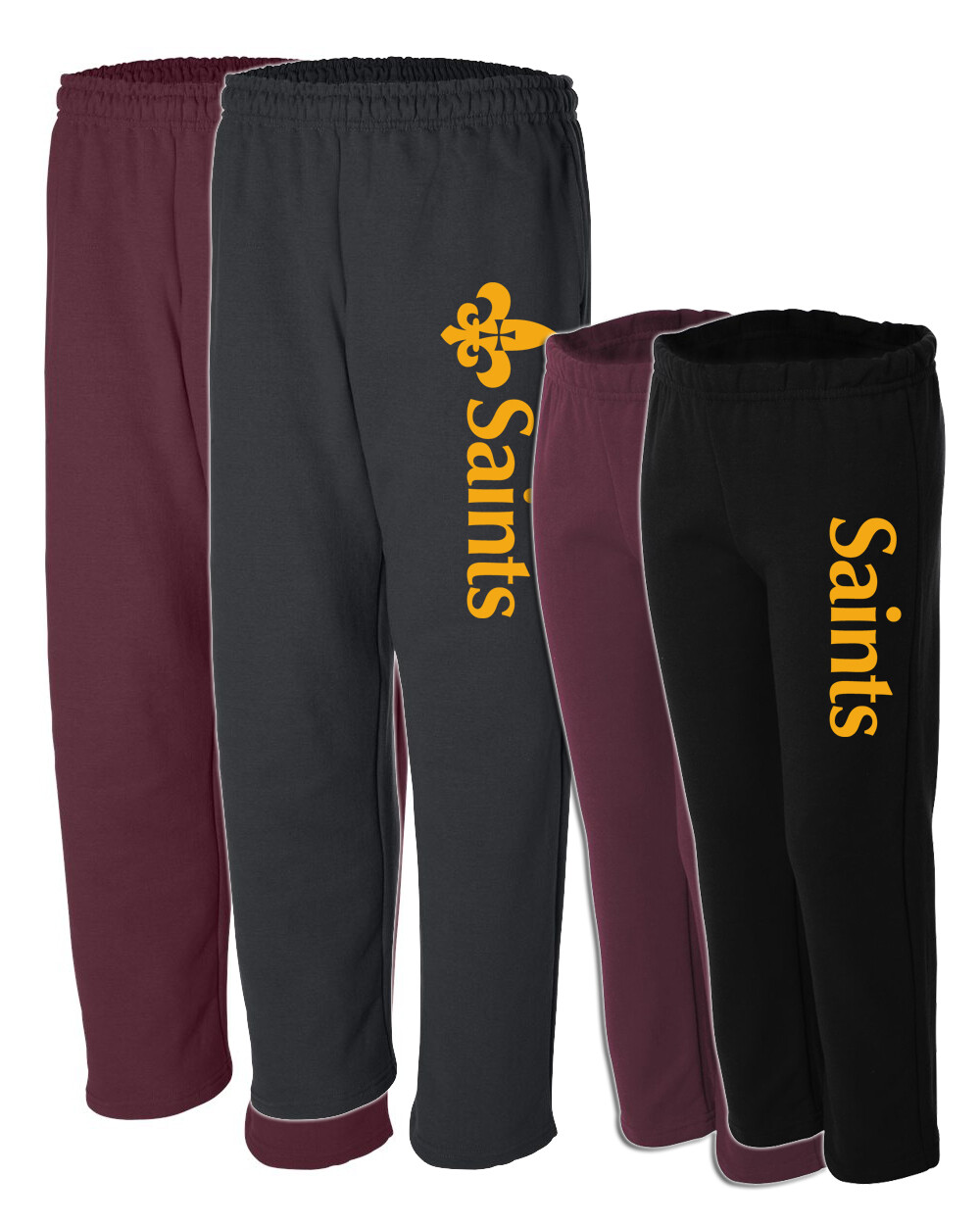 St. James Saints Open-Bottom Sweatpants - Adult / Youth
