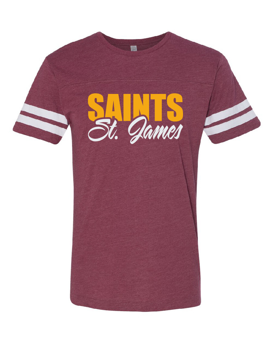 St. James Saints Football Fine Jersey Tee - Men's / Women's / Youth