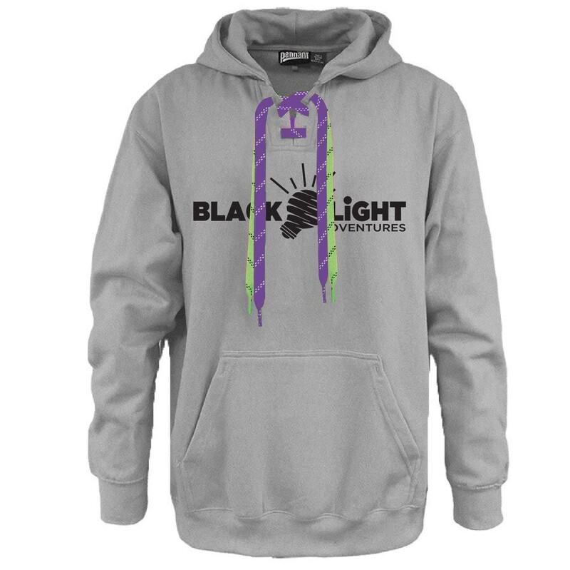 Blacklight Adventures - Here For Good Minnesota Hockey Lace Hoodie #HEREFORGOODMN