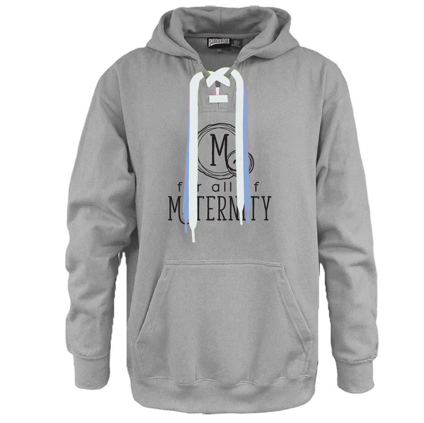For All Of Maternity - Here For Good Minnesota Hockey Lace Hoodie #HEREFORGOODMN