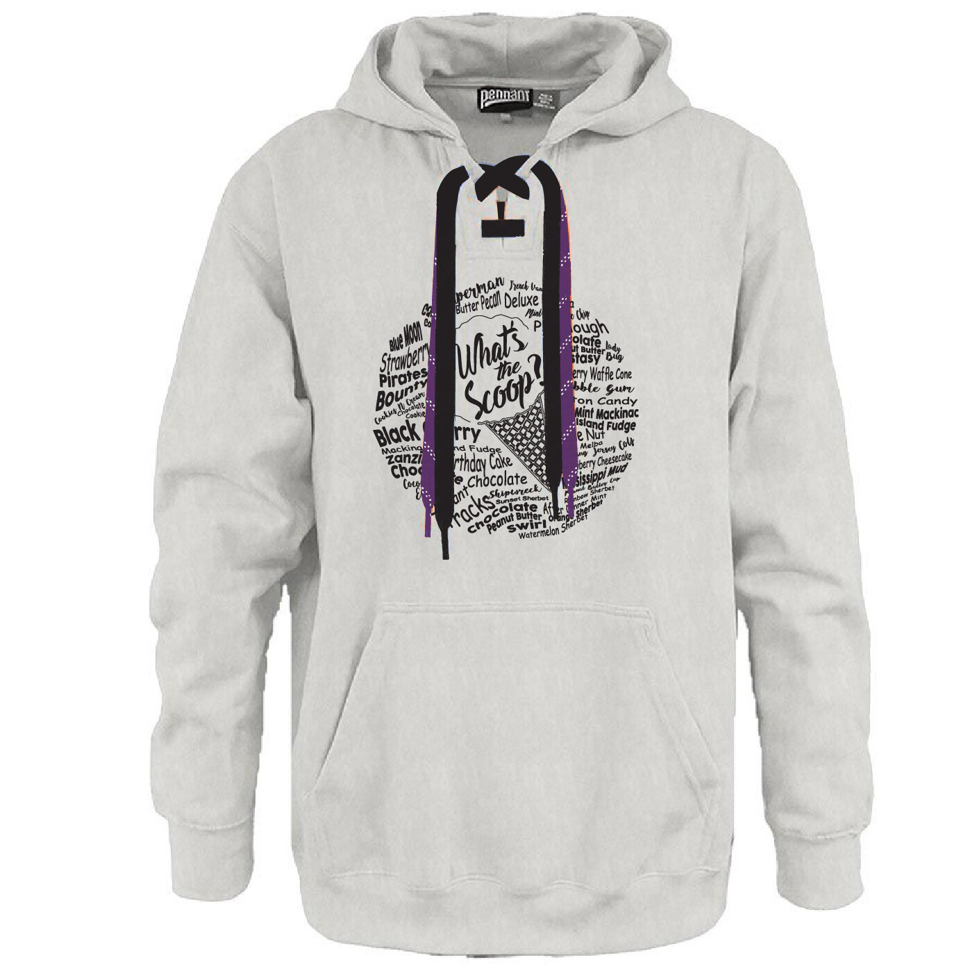 What's The Scoop? - Here For Good Minnesota Hockey Lace Hoodie #HEREFORGOODMN