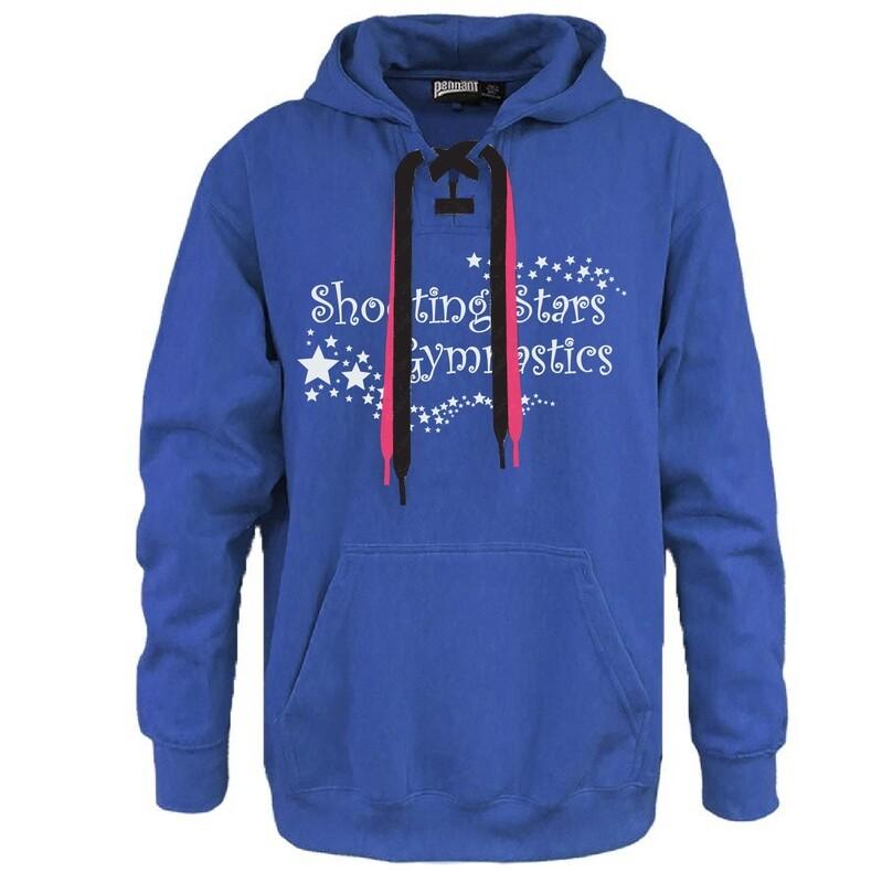 Shooting Stars Gymnastics - Here For Good Minnesota Hockey Lace Hoodie #HEREFORGOODMN