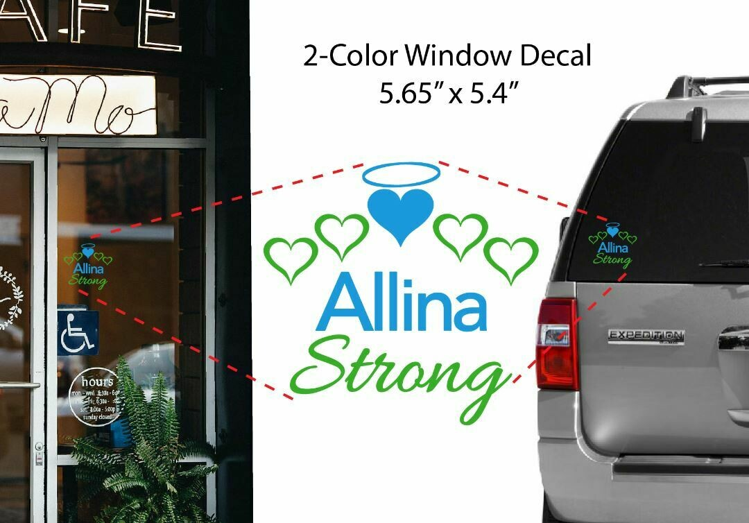 Allina Strong Window Decal #ALLINASTRONG