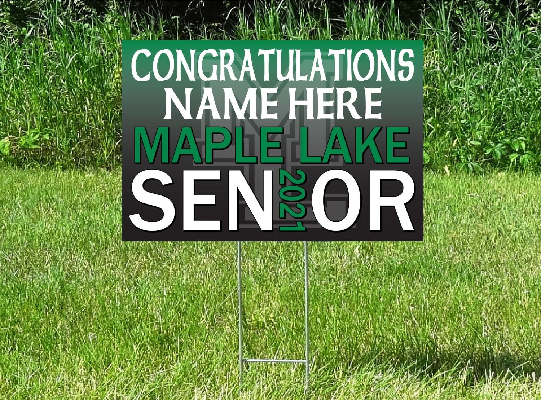 Maple Lake Irish Senior Class Of 2021 Yard Sign - OPTION TO PERSONALIZE