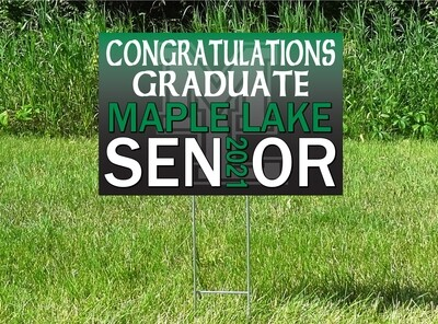 Maple Lake Irish Senior Class Of 2021 Yard Sign - OPTION TO PERSONALIZE