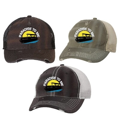 Ramsey Lake Distressed Dirty-Washed Mesh Back Cap