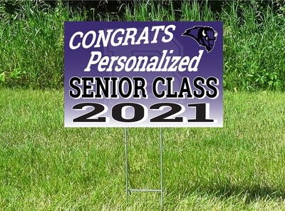 Buffalo Bison Senior Class Of 2021 Yard Sign - OPTION TO PERSONALIZE
