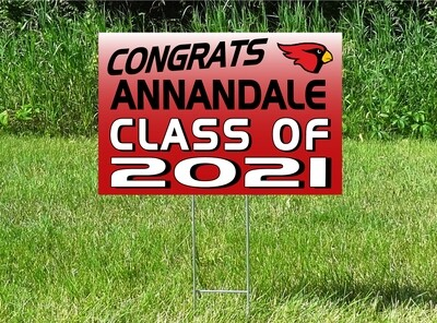 Annandale Cardinals Senior Class Of 2021 Yard Sign - OPTION TO PERSONALIZE