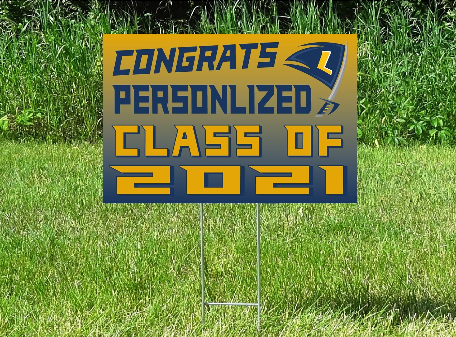 HLWW Lakers Senior Class Of 2021 Yard Sign - OPTION TO PERSONALIZE