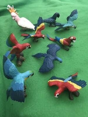 """3"""" Parrot Figures"""