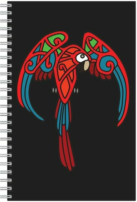 Celtic Macaw Spiral Notebook