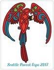Seattle Parrot Expo 2017 Commemorative Card (vertical)