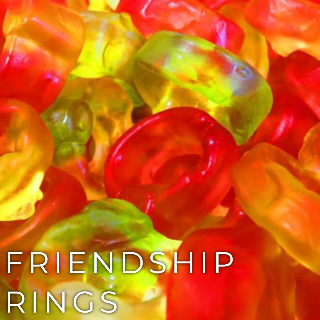 Haribo Friendship rings.