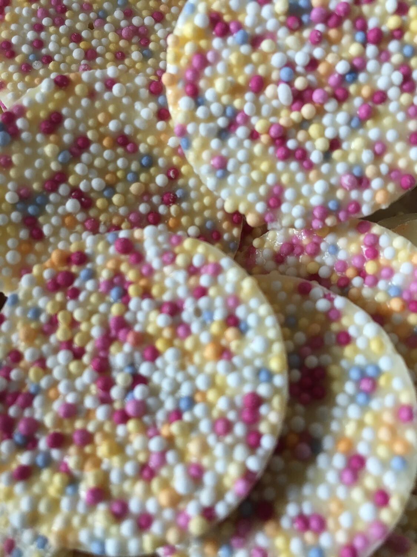 White chocolate Flavour Disco Disks