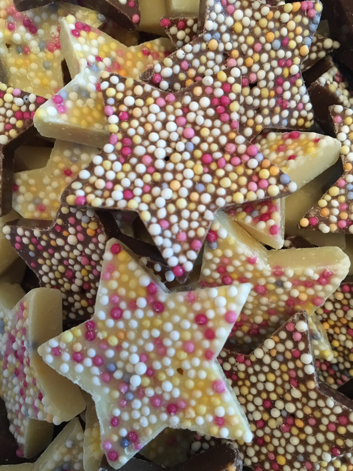 White and milk Chocolate Flavour Candy Stars