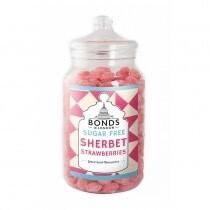 Jar of Sugar Free Sherbet Strawberries