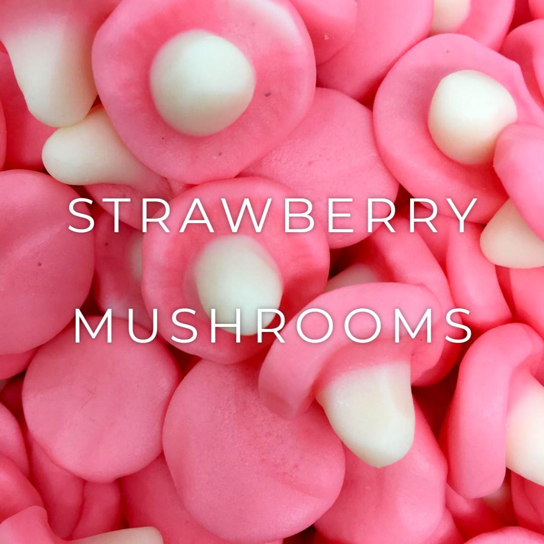 Strawberry Flavoured Foamy Mushrooms