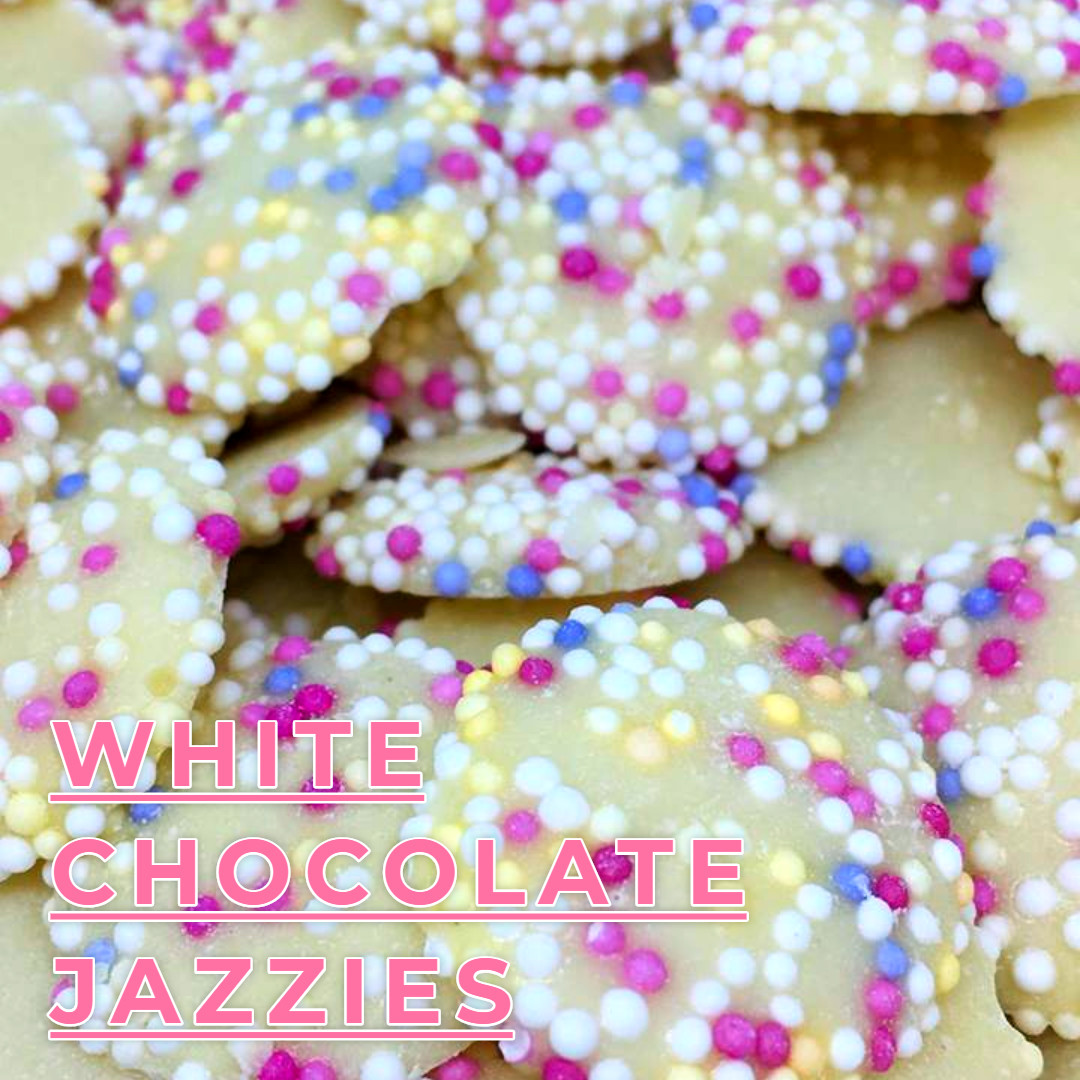 Small White Chocolate Jazzles