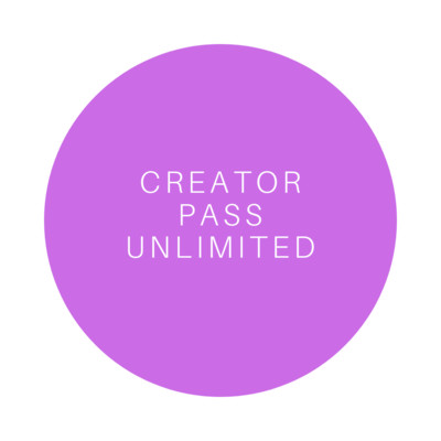 Creator Pass UNLIMITED!
