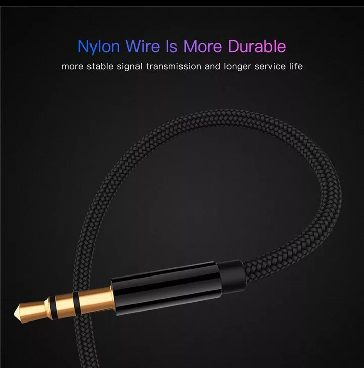 High Quality Aux Extension Cable (1.8m 3.5mm Jack M-to-F)