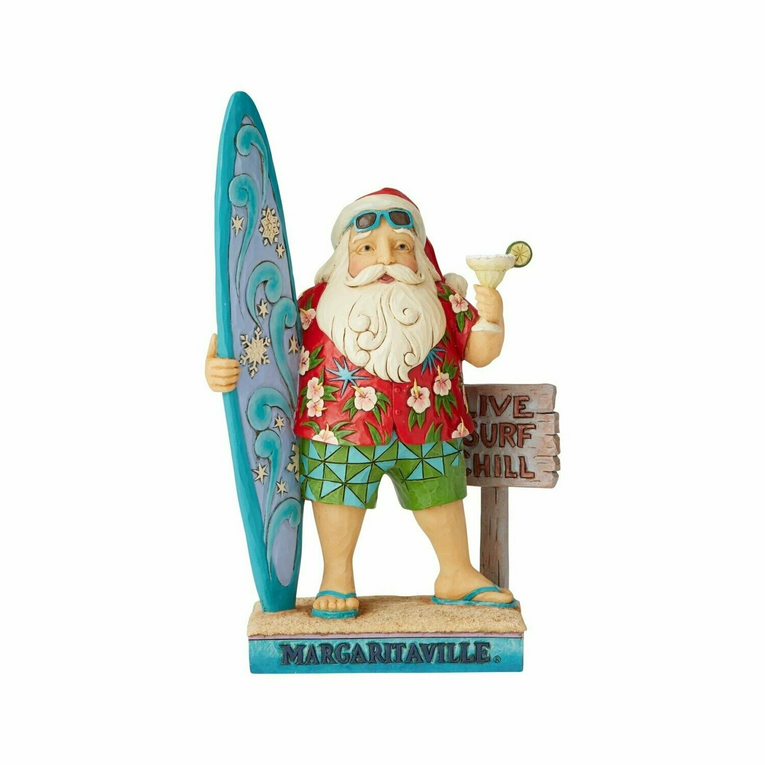 Santa With Surfboard By Jim Shore