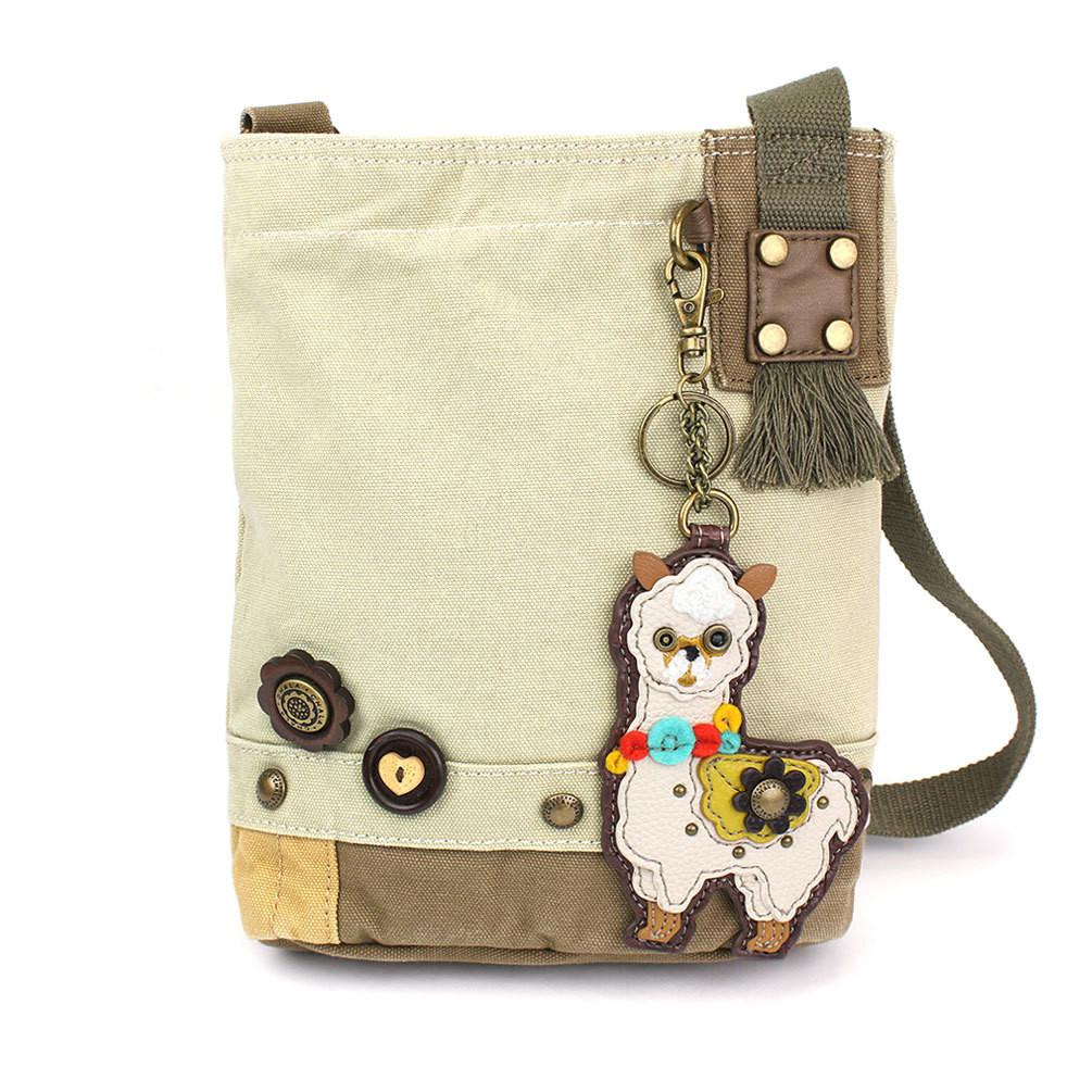 Patch Cross-Body Bag with Alpaca Key Chain