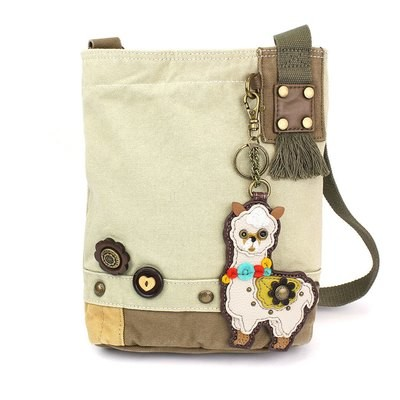 Patch Cross-Body Bag with Alpaca Key Chain