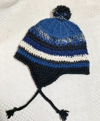 Toddler Alpaca Hat with Ear Flaps - 1-3 Years