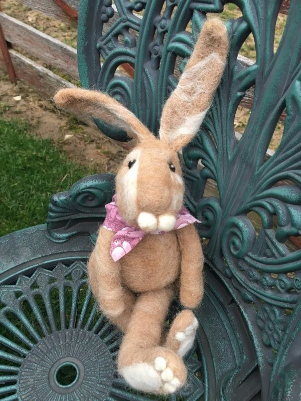 Needle Felted Tan Rabbit