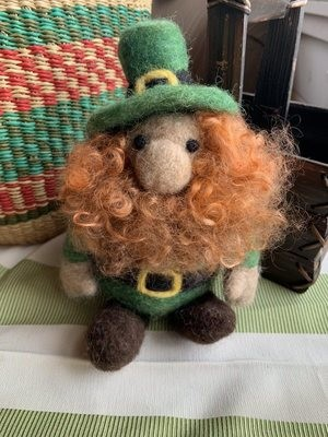 Needle Felted Irish Leprechaun