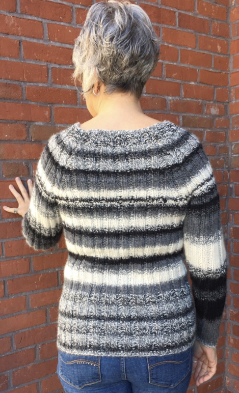 Ribbed Raglan Redux Pattern