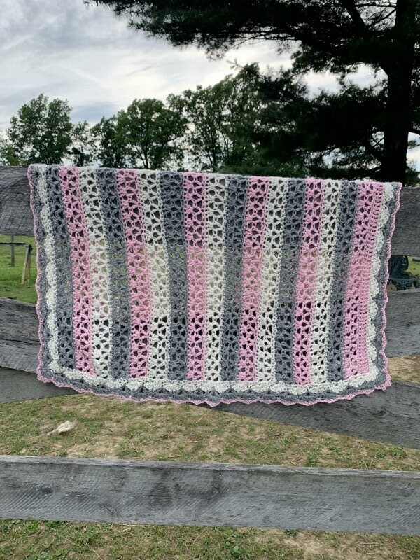 Sweet Stripes Alpaca Baby Blanket