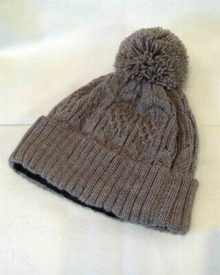 NEW Cable Lined Alpaca Hat