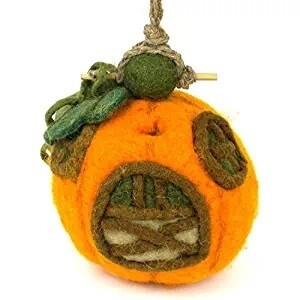 Felt Birdhouse - Pumpkin Cottage