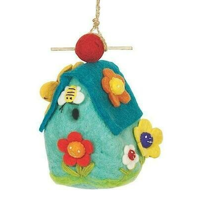 Felt Birdhouse - Flower House