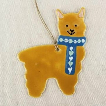 Fawn Alpaca Ornament