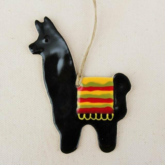 Black Llama Ornament