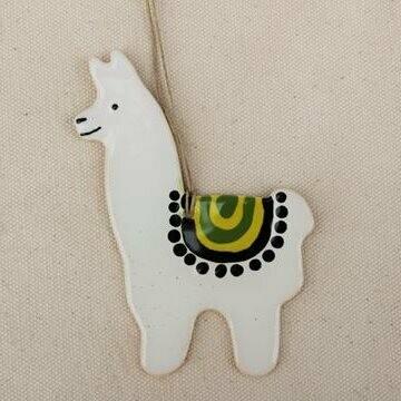 White Llama Ornament