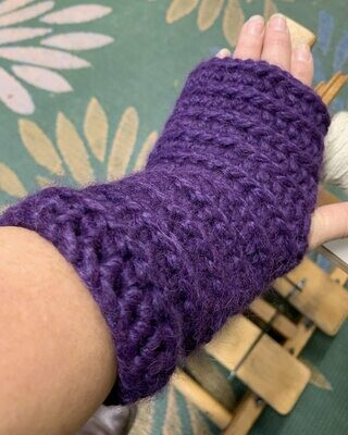 Bulky Ribbed Fingerless Gloves