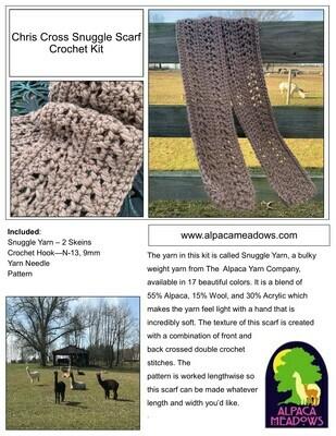 Chris Cross Snuggle Scarf Crochet Kit