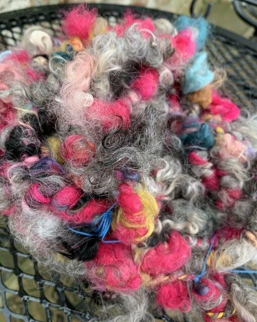 Alpaca Mohair Art Yarn - Hand-Dyed Multi-Colors, Greys