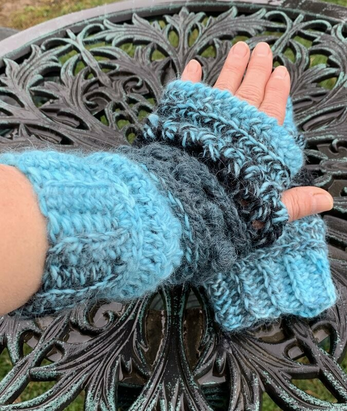 Sampler Alpaca Fingerless Gloves