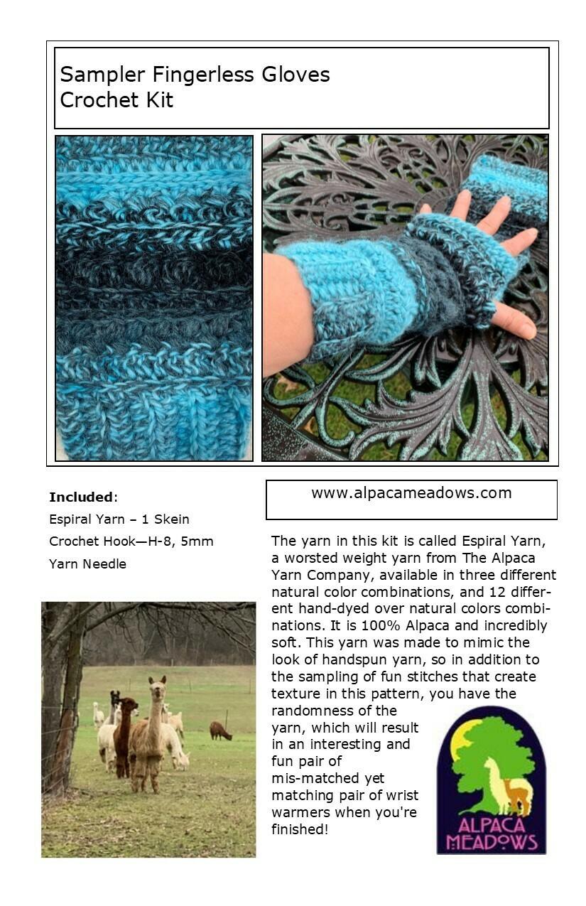 Sampler Fingerless Gloves Kit