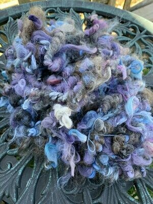 Suri Alpaca Mohair Art Yarn - Purple, Blue, Grey