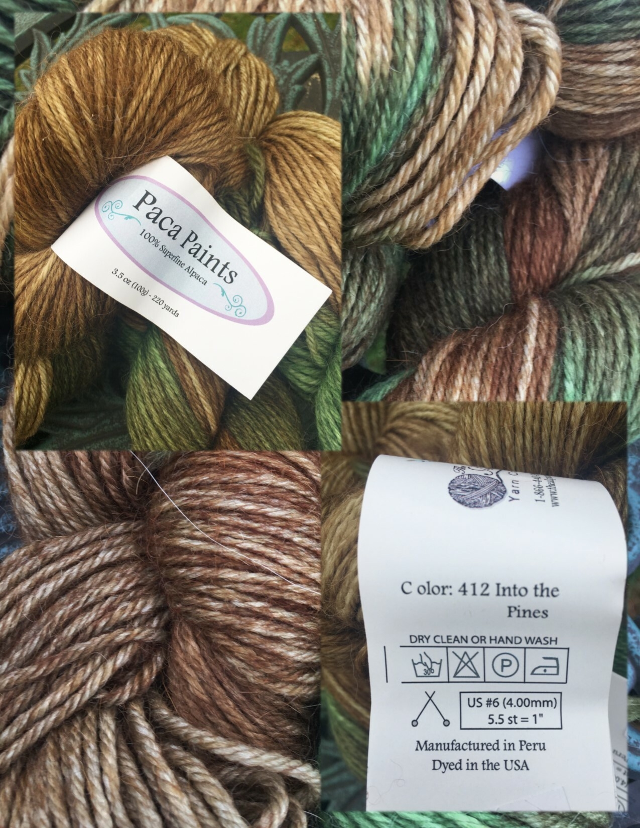 Paca Paints Alpaca Yarn - Into the Pines
