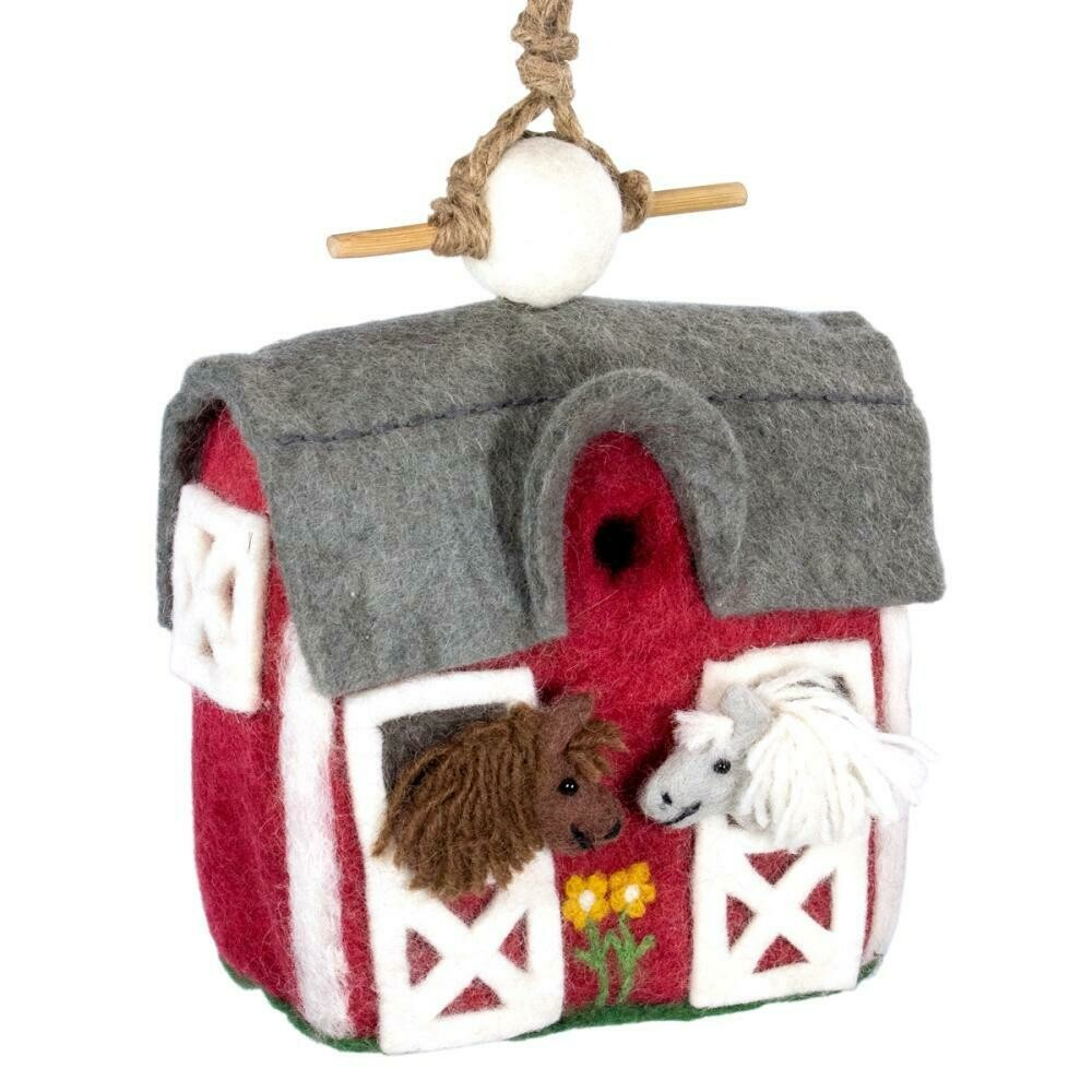 Felt Birdhouse - Country Stable