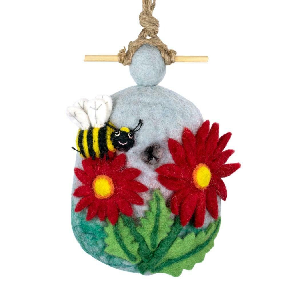 Felt Birdhouse - Bumblebee